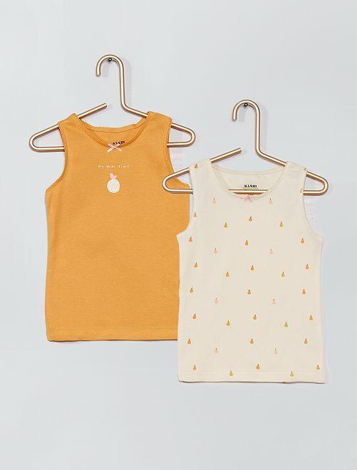 2 camisetas interiores eco-concepción                                         AMARILLO