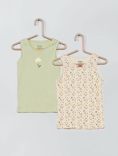 2 camisetas interiores eco-concepción                                         VERDE