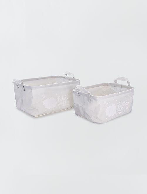 2 cestas de almacenaje                                         gris