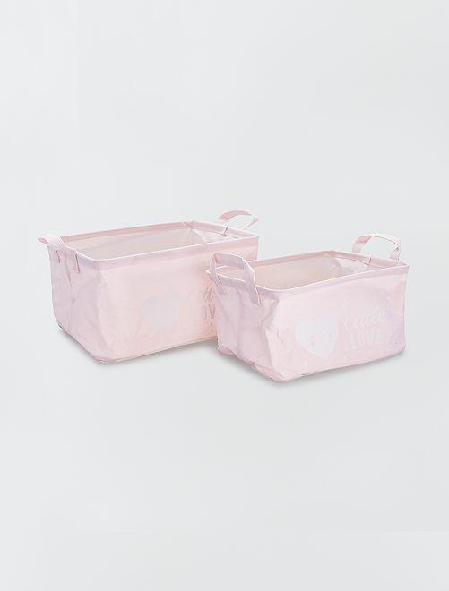 2 cestas de almacenaje                     rosa