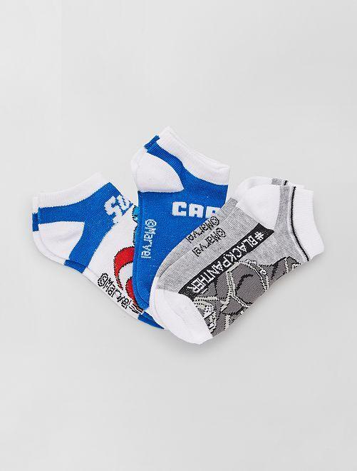 3 pares de calcetines 'Capitán América' 'Marvel'                                         AZUL