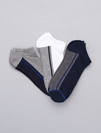 Hombre - 3 pares de calcetines invisibles deportivos - Kiabi