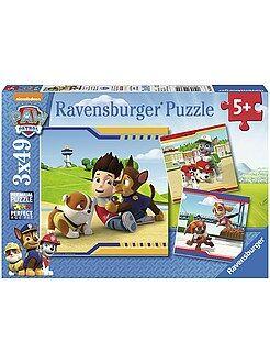 Niño 4-12 años 3 puzzles de 'Patrulla de Cachorros' de 'Ravensburger'