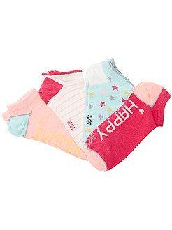 Leotardos, calcetines - 4 pares de calcetines invisibles