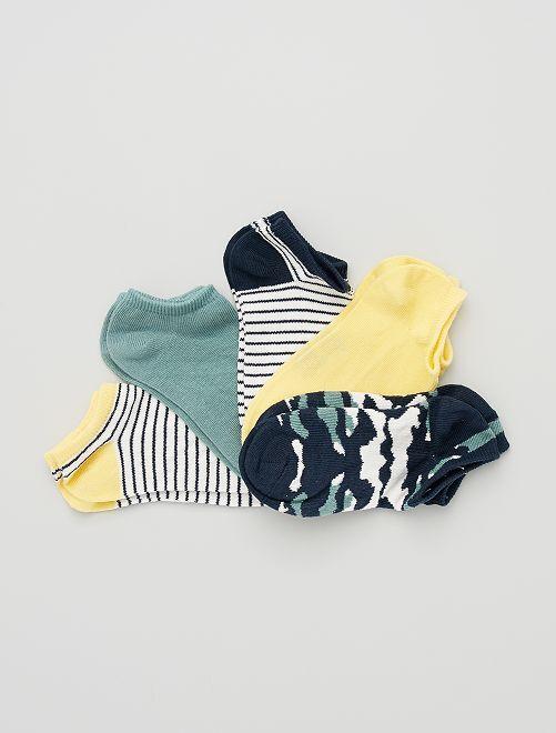 5 pares de calcetines invisibles eco-concepción                                                                                                                                                     AZUL