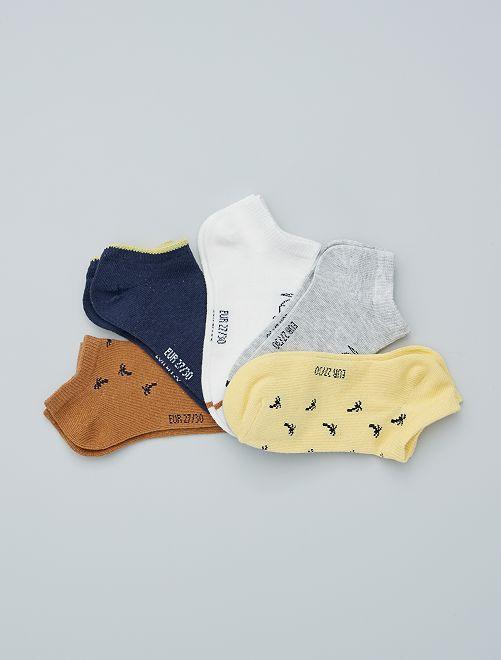 5 pares de calcetines invisibles eco-concepción                                                                                                                                                     BEIGE
