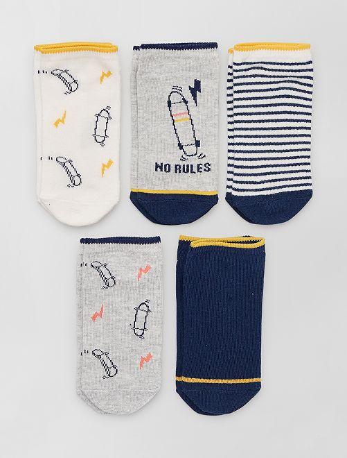 5 pares de calcetines invisibles eco-concepción                                                                                                                                                     BLANCO