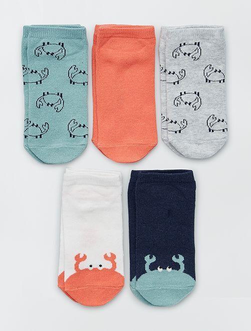 5 pares de calcetines invisibles eco-concepción                                                                                                                                                     GRIS