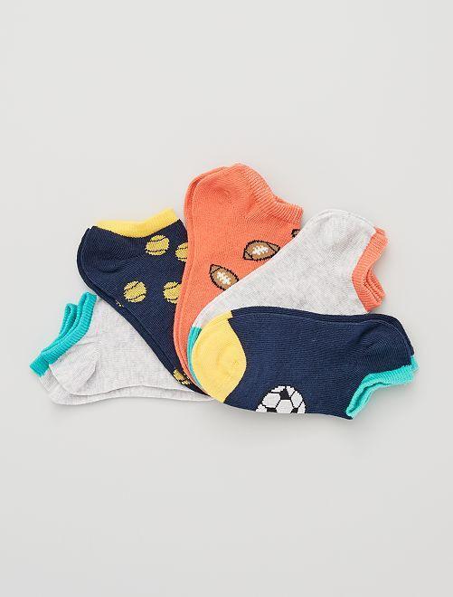 5 pares de calcetines invisibles eco-concepción                                                                                                                                                     NEGRO