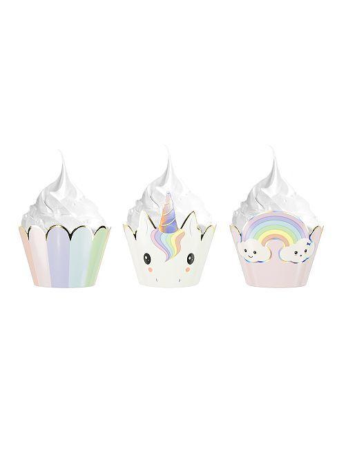 6 cápsulas para cupcakes 'unicornios'                             BEIGE