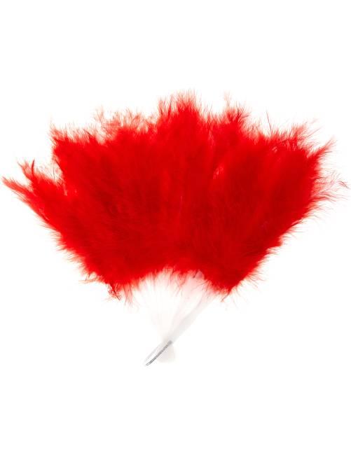 Abanico de pluma                                                                 rojo