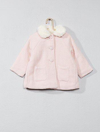 Abrigo con cuello bebé - Kiabi