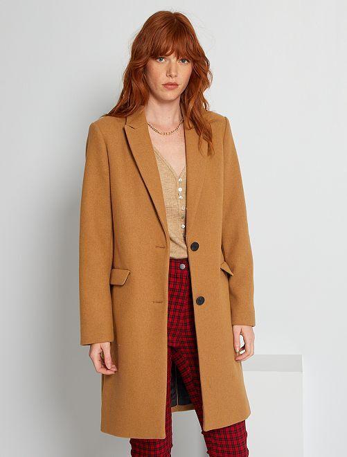Abrigo de lana                                                                                                     camello