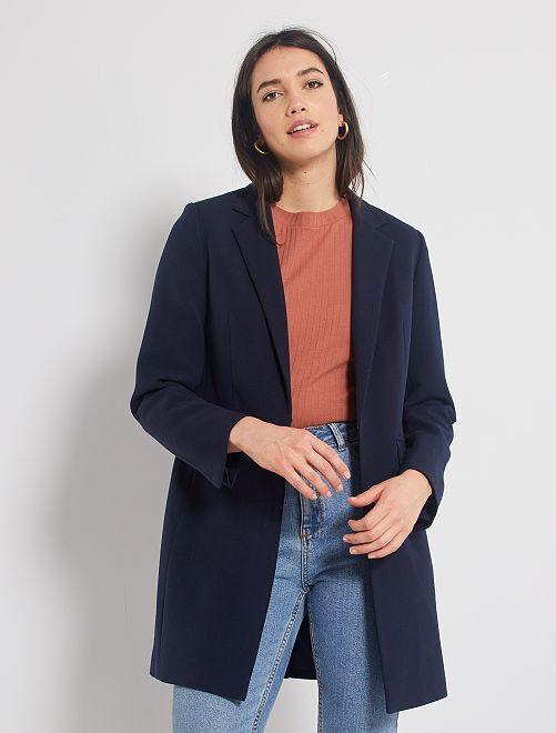 Abrigo estilo blazer                             AZUL