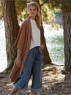Abrigos y cazadoras - Abrigo largo de lyocell - Kiabi