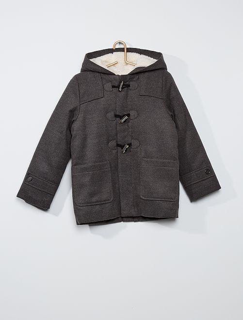 Abrigo largo estilo chaquetón                     GRIS