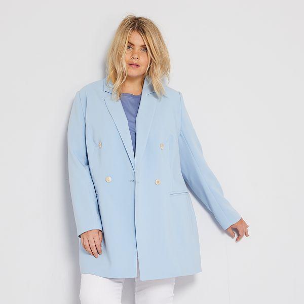 Abrigo Ligero Tallas Grandes Mujer Azul Kiabi 32 00