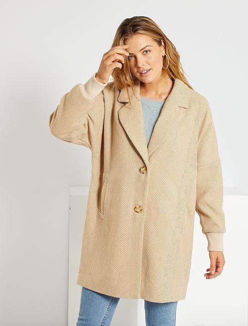 Abrigo oversize 'Jacqueline de Yong'                             beige
