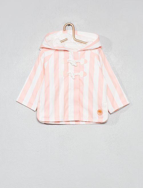 Abrigo tipo capa                                         BLANCO Bebé niña