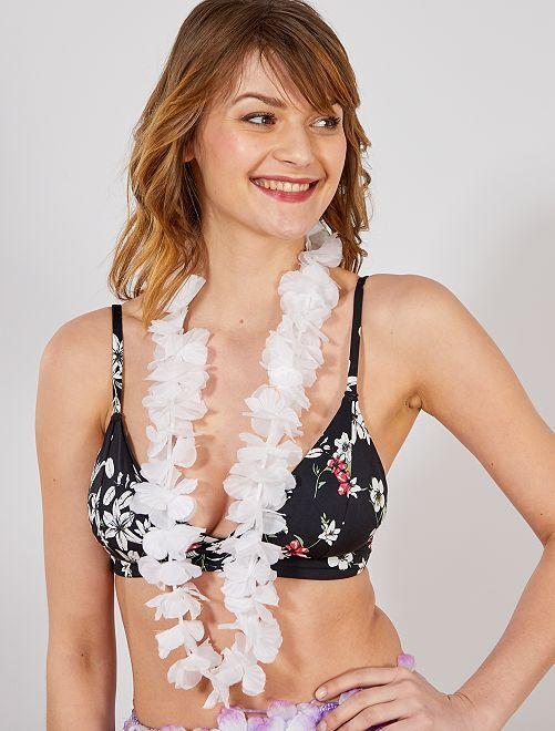 Accesorio de collar hawaiano                                                                                                     blanco