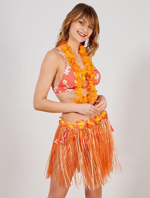Accesorio de falda hawaiana                                                                                         naranja