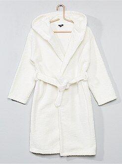 Pijamas - Albornoz de rizo con capucha - Kiabi