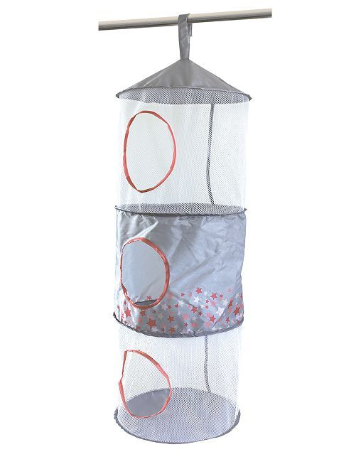 Almacenaje colgante pop up                                         gris/rosa