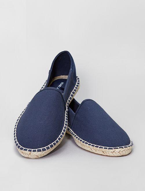 Alpargatas de tela                             azul navy