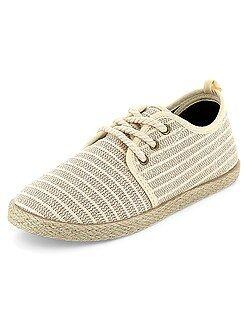 Niño 3-12 años - Alpargatas de tela estilo zapatillas - Kiabi