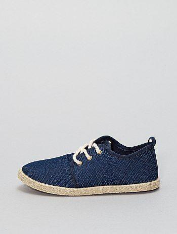 Alpargatas de tela estilo zapatillas - Kiabi