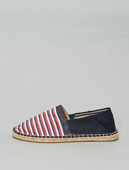 Alpargatas elásticas                     a rayas Zapatos