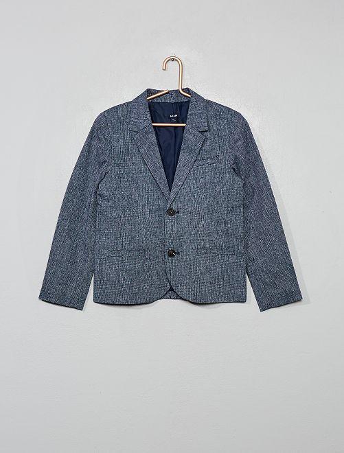 Americana de lino y algodón                                         azul