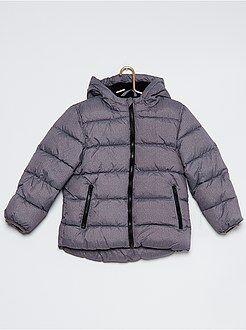 Niño 4-12 años Anorak acolchado con capucha y forro de tejido polar
