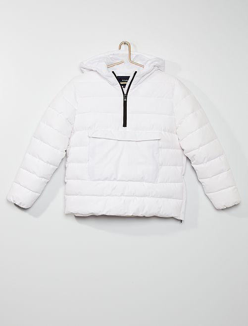 Anorak con capucha                                                     blanco