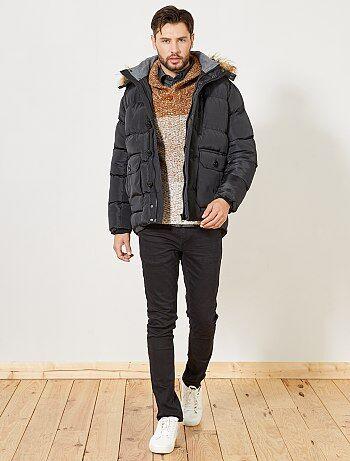Hombre talla S-XXL - Anorak con capucha de pelo - Kiabi