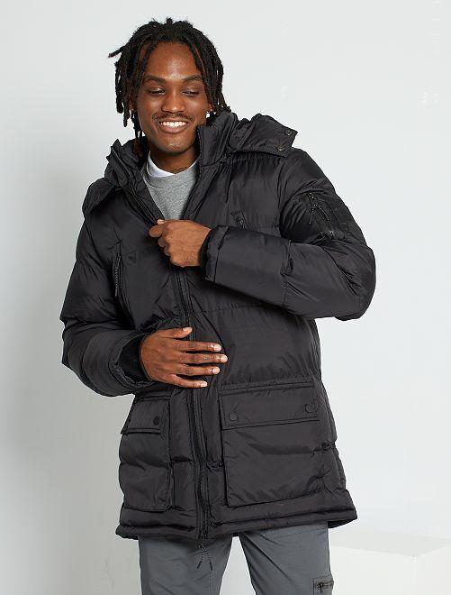 Anorak con capucha                             negro