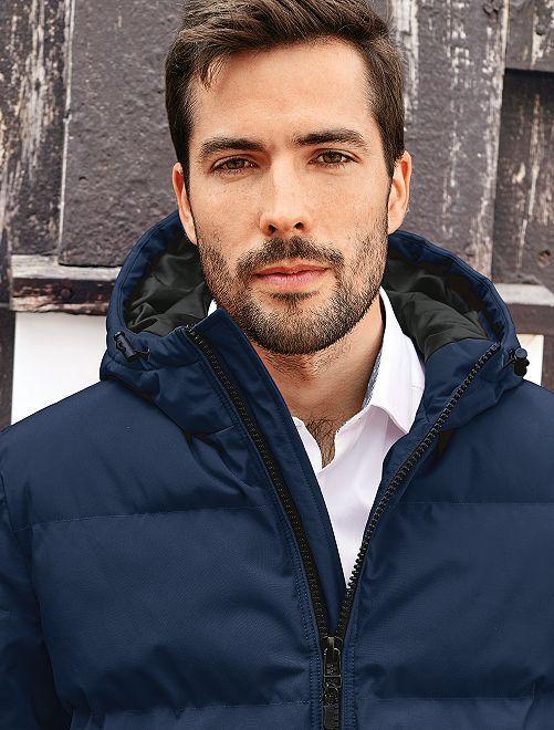 Anorak con capucha oversize                                                                 AZUL