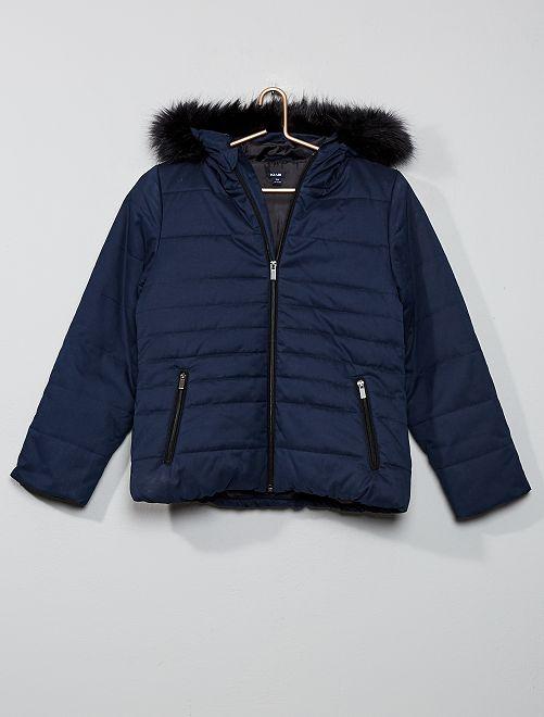 Anorak corto con capucha                                         azul