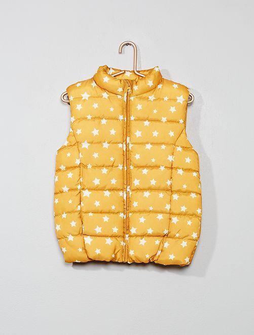 Anorak de estrellas sin mangas                                                     estampado amarillo Chica