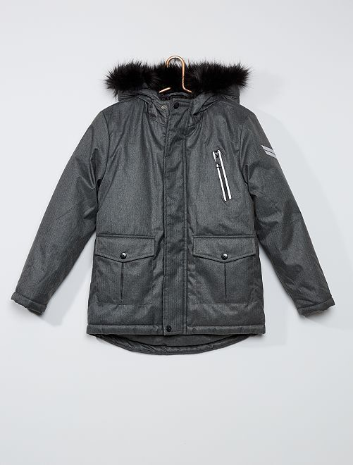 Anorak largo impermeable                                         gris