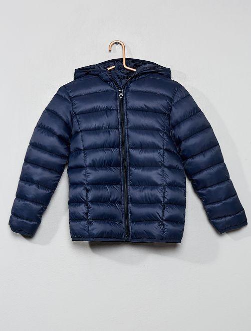 Anorak ligero con capucha                                                     azul