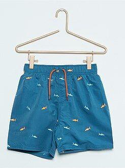Bañadores, playa - Bañador bordado 'tiburones'