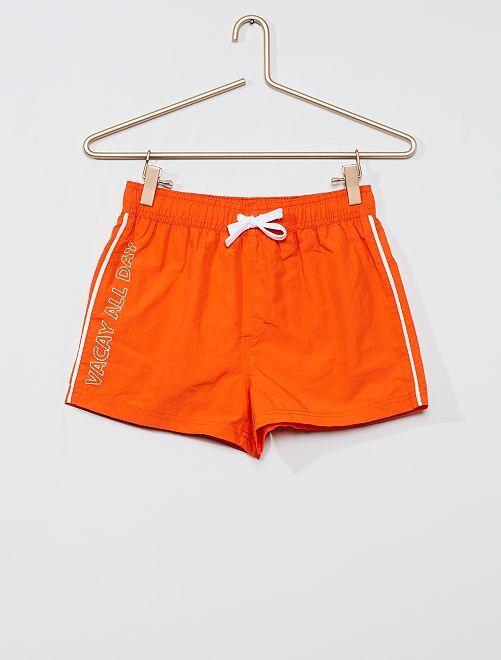 Bañador con mensaje                                         naranja