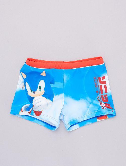 Bañador tipo boxer elástico 'Sonic' 'Sega'                             rojo