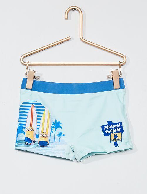Bañador tipo boxer 'Minions'                             azul pálido