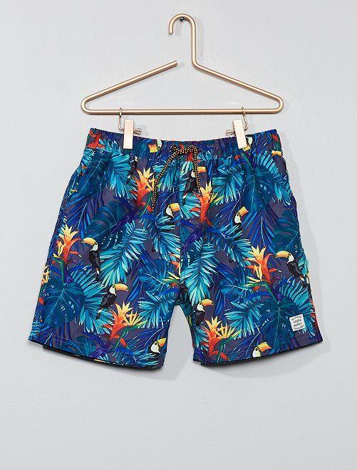 Bañador tropical                             azul Chico