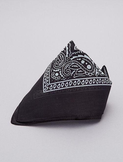 Bandana de algodón estampada                                         noir