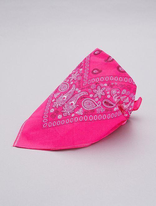 Bandana rosa fluorescente                             blanco Accesorios