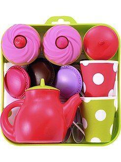 Niña 4-12 años Bandeja con servicio de té y pasteles
