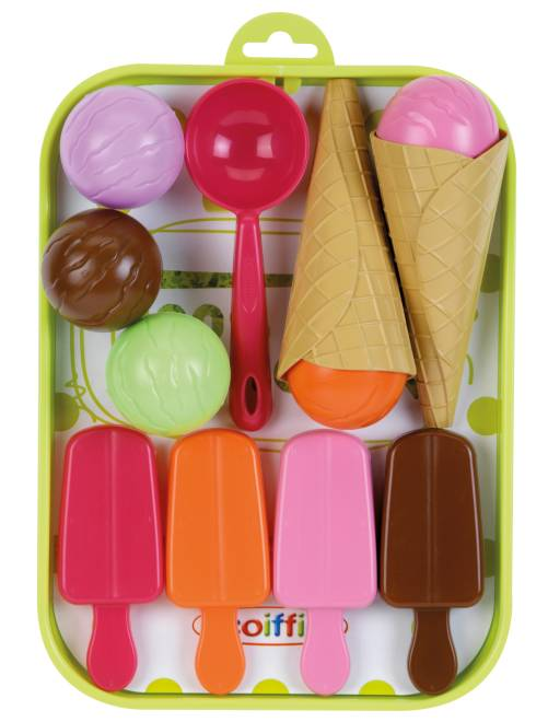 Bandeja de helados con 12 accesorios                             multicolore